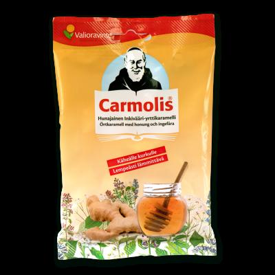 Carmolis_hunaja_inkiväärikaramelli